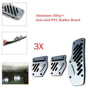 3PCS Car Non-slip PVC Rubber Board Accelerator Pedal Foot Pedals Pad Cover