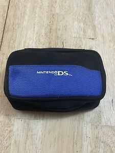 OEM Nintendo DS  Black/ Blue Storage Carry Case With Charging Cord Charger