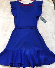 French Connection Sheath Dress, w/ Belt, Size 4, Short, Cobalt Blue, VHTF, NWT!