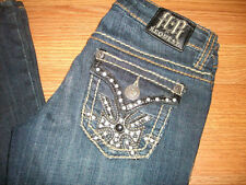 REQUEST Jeans~Size 0/24 ~Embellished Pockets~Dark Wash~Low Rise~(EUC)