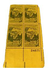 Scott #1011 Uncancelled Plate Block 3 Cent Mount Rushmore