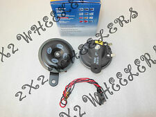 NEW GENUINE HELLA ELECTRIC HORN SET AGRO S-90 12V (PAIR) (code1701)