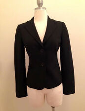 Emporio Armani Black Single Breasted Jacket in Wool Blend Size 2