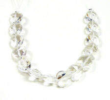 14 pcs Crystal Clear White Faceted Glass Bead Heart New 15mm