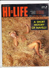 HI LIFE March 1962 Pinup Men's Magazine Virginia Rogers Eve Eden Kitty Randell