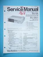 Service Manual für Technics SU-5A ,ORIGINAL