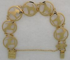 Smooth Fox Terrier Jewelry Gold Bracelet by Touchstone