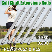 1/5Pcs Golf Club Steel Shaft Butt Extension Irons Extender Rod Stick 0.580