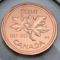 1867-1992 Canada 1 One Cent Penny Canadian Brilliant Uncirculated BU Coin G380