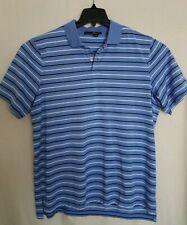 RLX Ralph Lauren Shirt Golf Polo Men's Size XL Striped Blue & White - NEW