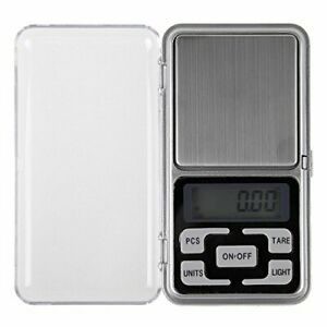 Electronic Pocket Scale Digital Electronic LCD Personal Advance Metal Silver
