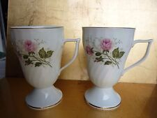 Royal Tettau, caffè, tazze da tè, 2 pezzi, porcellana, bianco, a piedi, h 12,5 cm