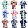 Mens Hawaiian T Shirt Summer Holiday Floral Beach Short Sleeve Tops Blouse Shirt
