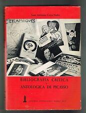 Juan Antonio Gaya Nuno Bibliografia Critica Y Antologica  De Picasso 1966 UPR