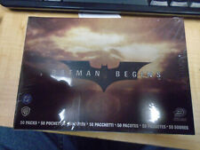 Batman Begins Sealed Sticker Box 50 Pack Upper Deck 2005