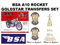 BSA A10 Rocket Goldstar 1962 to 1963 Full Restoration Transfers Set Decals