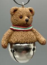 New Hallmark Ornament Miniature Christmas Bells Series #4 Bear