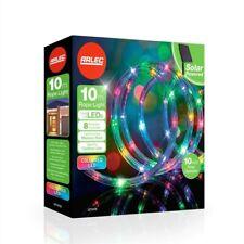Xmas Christmas Arlec 10m Multi-Coloured LED Festive Solar Rope Light