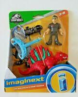 Jurassic World Imaginext Dr. Ian Malcolm and Dimetrodon action figure Mattel