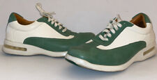 COLE HAAN CONNER STYLE MENS SIZE 10M OXFORD WHITE/GREEN LEATHER SOFT AIR
