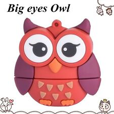 Red Owl Birds Animals 16Gb Novelty USB Memory Stick Flash Drive Gift Present