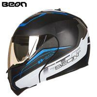 BEON Modular Motorcycle Helmet Flip up Open Casque Casco Dual Visors Helmets 700