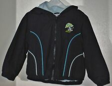 GYMBOREE Size 3 Boys Blue Front Zipper Fully Lined Hoody Jacket