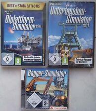 Hopkins Simulateur 2011 + Plateforme pétrolière simulator + Excavateurs Collection PC