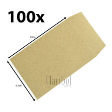 100 X Mini Small Envelopes Wedding Bomboniere Favours Brown Kraft Seed Packets