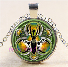 Celtic Goddess Photo Cabochon Glass Tibet Silver Chain Pendant Necklace