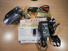 SONY HANDYCAM DVD202E DVD CAMCORDER NEVER USED JUST TAKEN OUT OF BOX TO SHOW