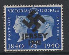 GB Jersey (280) 1940 Swastika Overprint forgey om genuine 2.5d Centenary u/m