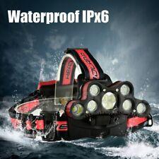 AU 350000LM 9X XMLT6 LED Headlamp Headlight Head Torch Rechargeable Flashlights