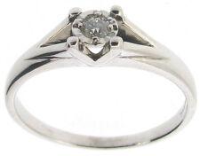 9 Carat White Gold VS1 Not Enhanced Fine Diamond Rings
