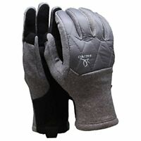 Head Womens Hybrid Large Warm Ski Gloves Grey Touchscreen Compatible