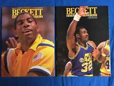 Lot (2)Basketball Beckett Issue #13 & 15 1991 Karl Malone Magic Johnson NM/MINT