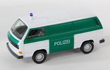 BLITZ VERSAND VW T3 VAN Polizei weiss / white Welly Modell Auto 1:34 NEU OVP
