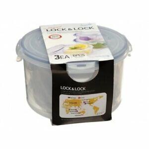 Lock & Lock Set mit 3 Plastiknahrungsmittelboxen Vorratsdose Aufbewahrungsboxen