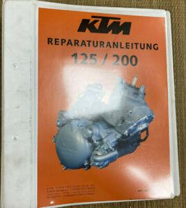 KTM 125 200 LC Werkstatthandbuch Reperaturanleitung Neu Original Rarität