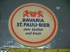BAVARIA  ST. PAULI - BIER BEER   COASTER   BIERDECKEL  VINTAGE ORIGINAL GERMANY