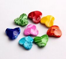 Free Ship 40pcs Mixed Resin Three Petals Spacer Beads Finding 18x18mm