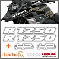 2pcs R1250 BMW Bianco R 1250 GS 2019 HP Motorrad ADESIVI STICKERS Adventure