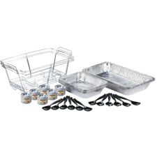 3 Full Size Disposable Buffet Catering Serving Set Chafing Dish Chafer Fuel Kit