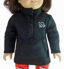 """Fleece Pullover Winter Jacket made for 18"""" American Girl Doll Clothes"""