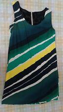 abito tubino elegante casual donna Benetton verde giallo bianco