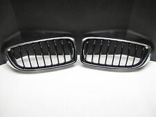 OEM BMW F32 F33 F36 4 Series Chrome & Black Kidney Genuine Grill Pair - 2014-16