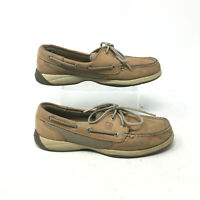 Sperry Top Sider Intrepid Boat Shoes Lace UP Leather 9774829 Tan Mens 7