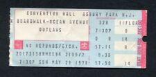 Original 1978 Outlaws concert ticket stub Asbury Park Nj Ghost Riders