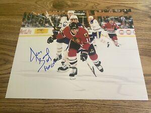 Denis Savard Autographed 11x14 Photo Chicago Blackhawks HHOF 2000