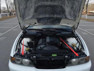 Paar Vorne Obere Scheinwerfer Dichtung schwarz Für BMW E39 525i 528i 530i 540i